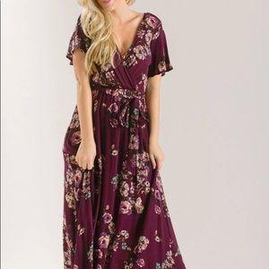 Morning Lavender ILLA ILLA Floral maxi dress